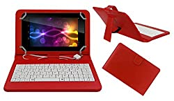 ACM PREMIUM USB KEYBOARD TABLET CASE HOLDER COVER FOR BYOND MI-BOOK MI5 With Free MICRO USB OTG - RED