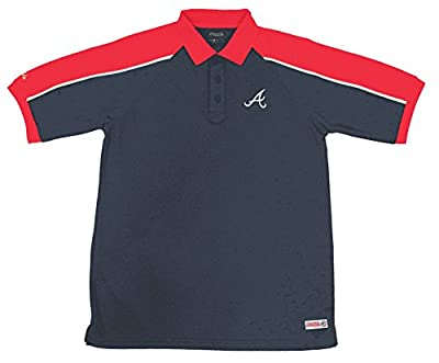 MLB Atlanta Braves Color Blocked Polo with Lined Mini Mesh Panels