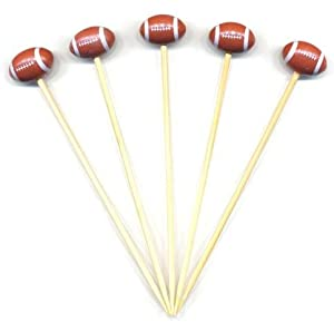 """4 3/4"""" - Football Party Appetizer Toothpicks / Swizzle Sticks - 100ct"""