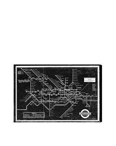 "Oliver Gal London Underground Map 1934 Canvas Art, Multi, 16"" x 24"""