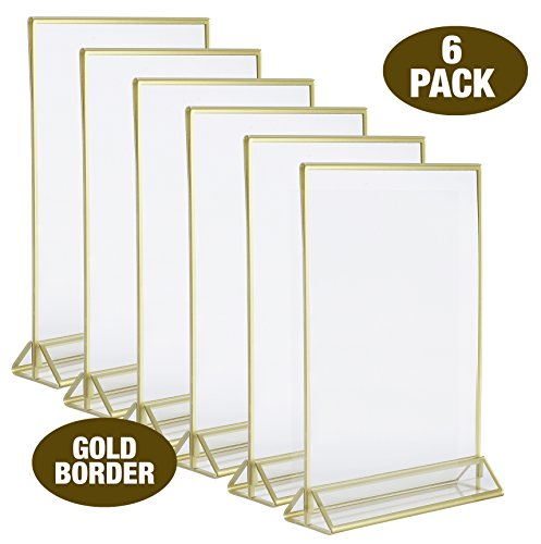 Price Tracking For 5 X 7 Clear Acrylic Sign Table Card