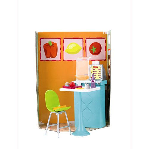 Dora'S Explorer Girls School Cafeteria Playset With Cafeteria Background Diorama, Food Display Counter, Cash Register, Table, Chair, Menu, Food Pieces, Bowl, And Spoon Plus Code To Unlock The Pizza Activity On Doralinks (Doll Sold Separately) front-766312