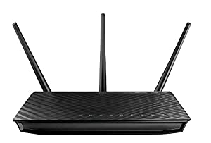 Asus RT-N66U - 900Mbps Dual Band Wireless N Router, Gigabit LAN/WAN, 2x USB, Print FTP UPnP VPN Server, IPv6, 8x SSID, Wireless 3D HD content streaming, 3 Year Warranty