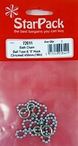 Star Pack boule lien chaîne de bain et le crochet 's' pour les bouchons etc