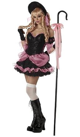 Little Bo Peep Costume - Rebel Toons Adult Costume deluxe - Medium