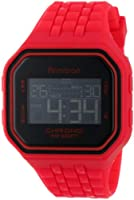 Armitron Men's 40/8286RED Sport Rectangle Red Resin Strap Chronograph Digital Watch by Armitron