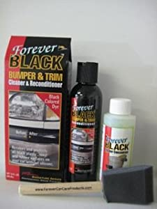 Forever Black Bumper & Trim Kit ( Improved Formula & Larger Size) from MBrown Signature Series