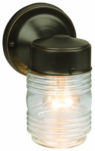 Design House 505198 Jelly Jar Outdoor Downlight, 7.5-Inch By 4.5-Inch, Oil Rubbed Bronze