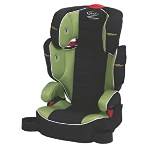 graco highback turbobooster featuring safety surround black green baby. Black Bedroom Furniture Sets. Home Design Ideas