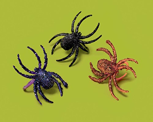 Halloween Novelty Glitter Spider Ring Party Favor Trick Or Treat School Costume