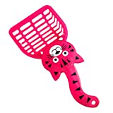 SODIAL(R) Pink Cat Pattern Plastic Pet Dog Cats Litter Scoop