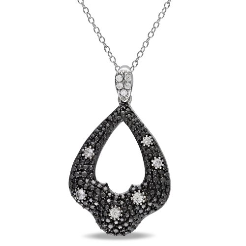 Sterling Silver 3/8ct TGW Created White Sapphire Fashion Pendant With Chain (18in)