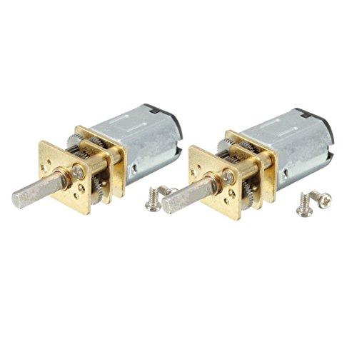 Yosoo Mini High Torque 12V 300RPM Electric Speed Reduce DC Geared Motor Replacement N20 3mm Shaft Box Motor Pack of 2 (Robot Dc Motor compare prices)
