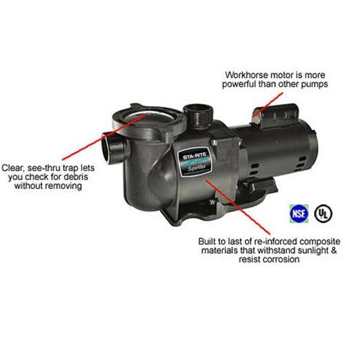 Pentair sta rite n1 34a hp supermax standard efficient for High efficiency pool pump motor