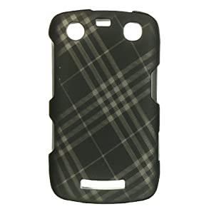 BlackBerry Curve 9350 Snap-On Cover Protector Case - Smoke Plaid (Diagonal)