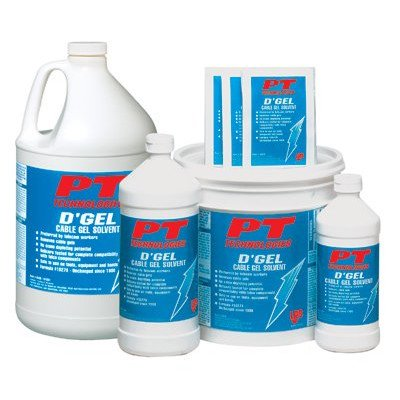 D'Gel® Cable Gel Solvents - d'gel cable cleaner 32 oz.bottle [Set of 12]