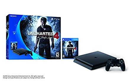 PlayStation 4 Slim 500GB Console - Uncharted 4 Bundle