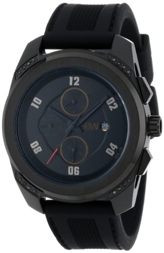JBW J6264C - Reloj de pulsera hombre, silicona, color negro