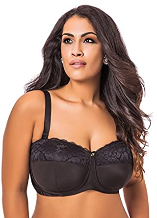 Ashley Stewart Women's Plus Size Convertible Strapless Butterfly Bra   38DDD Black