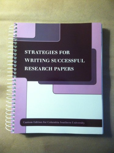 Strategies for Writing Successful Research Papers