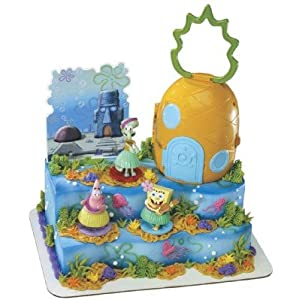 Click to buy Spongebob Squarepants Luau Signature Cake Setfrom Amazon!