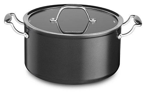 KitchenAid KCH160LCKD Hard Anodized Nonstick 6.0-Quart Low Casserole with Lid Cookware - Black Diamond (Kitchenaid Stove Top compare prices)