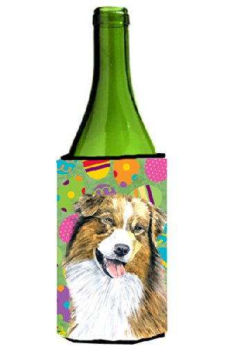 Australian Shepherd Easter Eggtravaganza Wine Bottle Beverage Insulator