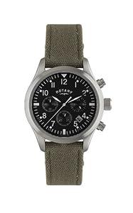 Rotary Herren-Armbanduhr XL Timepieces Chronograph Quarz Textil GS02680/19