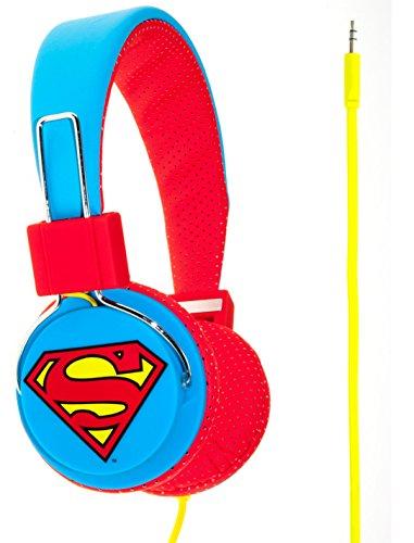 Superman Man of Steel Cuffie Junior, Blu/Rosso