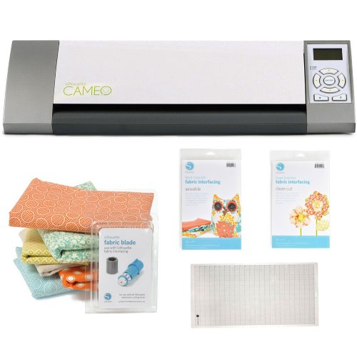Silhouette Cameo Electronic Cutting Tool + Silhouette Fabric Blade Blue + Accessory Kit
