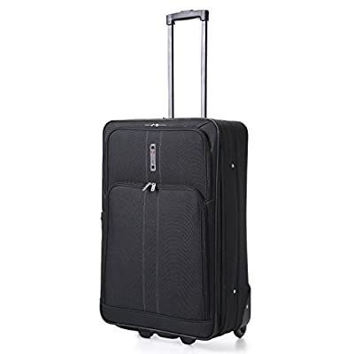 5 Cities Large 26 Inch Lightweight Expandable Suitcase, Check-in Luggage Wheeled Rolling Bag with 3 Years Warranty!
