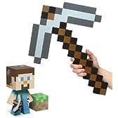"Minecraft マインクラフト Steve Vinyl 6"" Figure フィギュア & Foam Pickaxe Set of 2 [並行輸入品]"