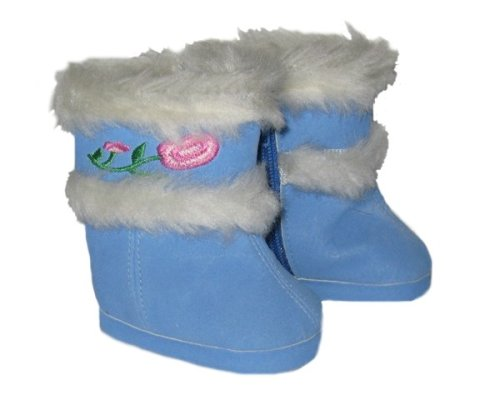Buy Blue Fur-Trimmed Boots for 18″ American Girl Doll and Others