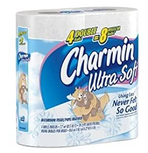 Charmin Ultra Soft, Double Rolls, 4 Count x 20-pack = 80 Total Rolls [Item #26882]