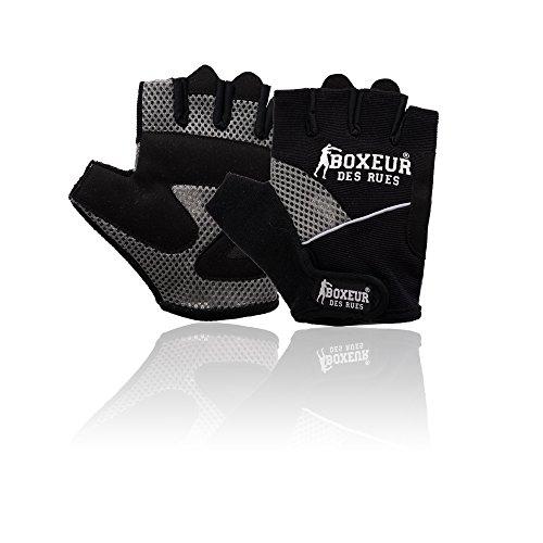Boxeur Des Rues Fight Activewear Guanti da Fitness e Sollevamento Pesi, Nero, S/M