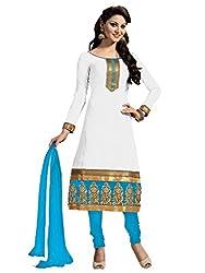 Nilkanth Enterprise White Dress Material