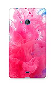 Amez designer printed 3d premium high quality back case cover for Microsoft Lumia 540 (Holi water india public holiday paint underwater red blue)
