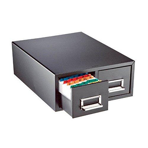 Steelmaster Double Card File Drawer, Steel, 6 x 9 Inches, Black (263F6916DBLA) (File Cabinet Prime compare prices)