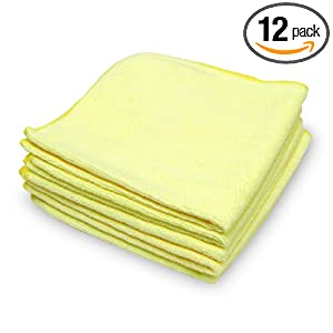 Green Lifestyle AM-0015866 Microfiber Auto Cloth, (Pack of 12)