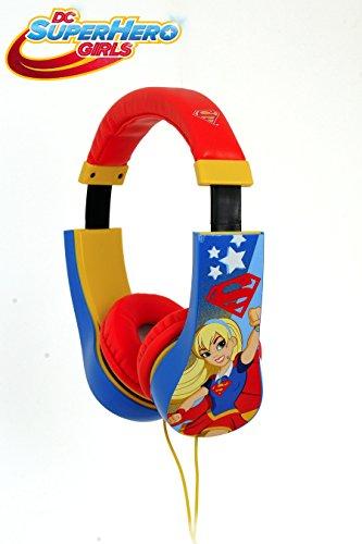 Kid Safe 2 Bambini cuffie volume limitato sulle cuffie dell'orecchio per i bambini (le Ragazze Super-eroe)