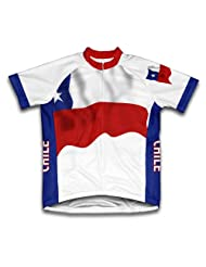 Chile Flag Short Sleeve Cycling Jersey for Women