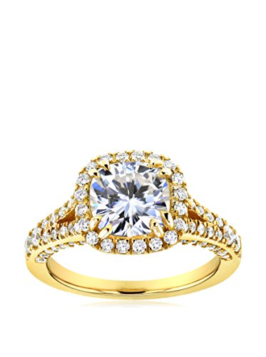 Kobelli 14K Gold Cushion-Cut Moissanite & Diamond Halo Engagement Ring