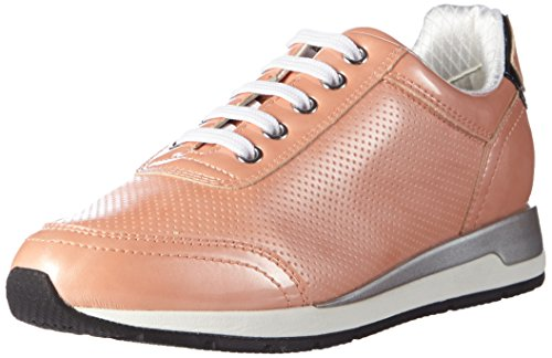 Geox D Shahira A Scarpe Low-Top, Donna, Multicolore (Mehrfarbig (PEACHC8024)), 37