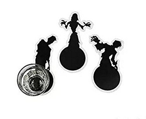Scary Zombie Shadow Cup Coasters (24 Count) Party Supplies