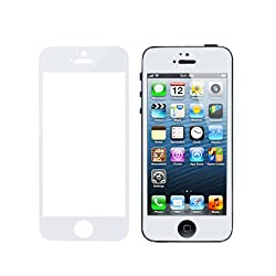 MagicShield Colorful Tempered Glass Film Screen Protector for iPhone 5 5S 5C (White)