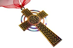 Celtic Cross Ornament with Ribbon