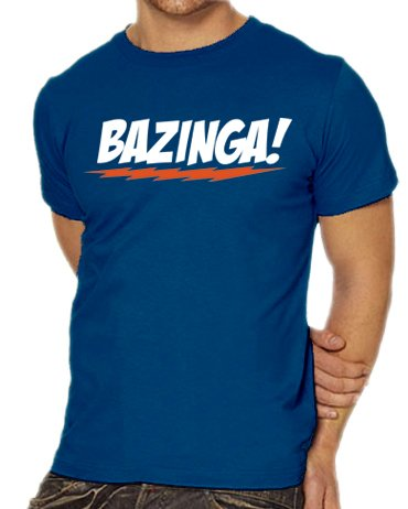 Touchlines Herren T-Shirt The Big Bang Theory - Bazinga Logo, royal, XXL, B1797-Royal-XXL
