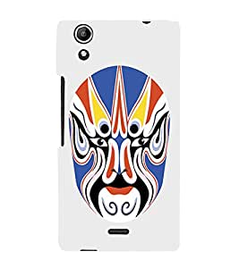EPICCASE Beijing Opera Mask Mobile Back Case Cover For Micromax Selfie 2 Q340 (Designer Case)