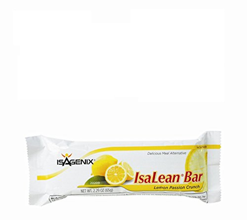 Isagenix Isalean Bars Lemon Passion Crunch 10Ct Delicious Low-Glycemic Meal Alternative