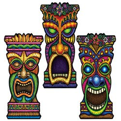 Tiki Cutouts Party Accessory (1 count)